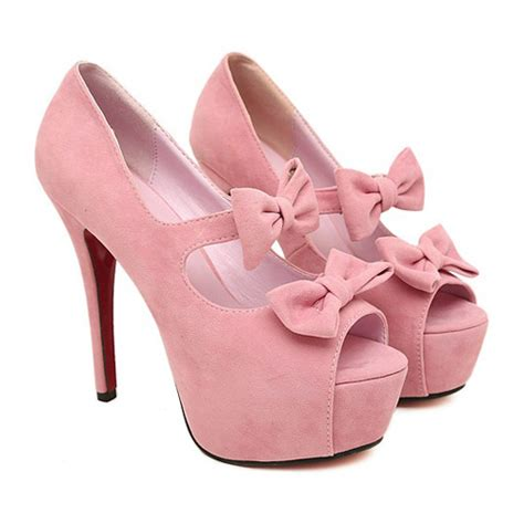 Sepatu High Heels Sandal High Heels Lokal Catenzo Km 035 fashion hollow out bow tie embellished stiletto high heels pink suede pumps pumps shoes