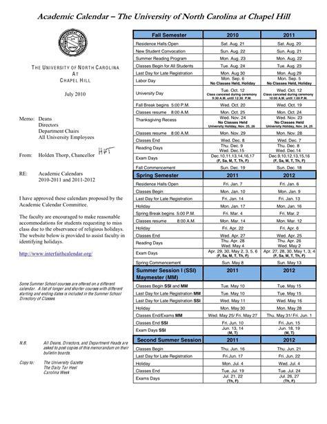Mba Calendar Unc by Unc Chapel Hill Academic Calendar Calendar Picture Templates