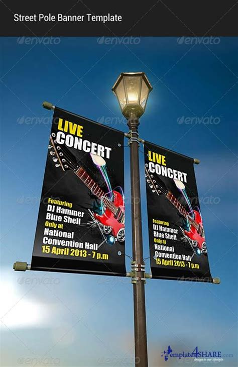 Graphicriver Street Pole Banner Mock Up 187 Templates4share Com Free Web Templates Themes And St Photoshop Template