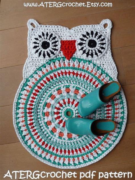 crochet owl rug pattern crochet pattern owl rug by atergcrochet xl crochet