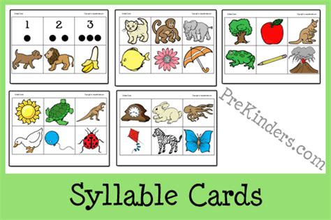 printable syllable games image gallery syllable games