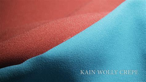 Kain Bahan Crepe mengenal bahan kain wolly crepe kaos kerah
