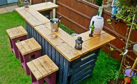 build a backyard bar diy pallets garden bar home design garden