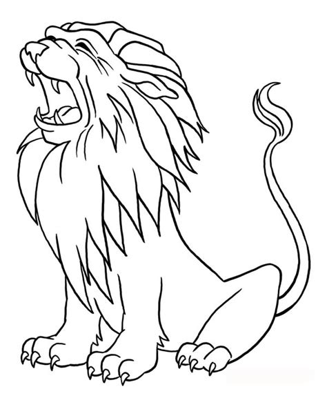 lion roaring coloring pages free coloring pages of lion roaring