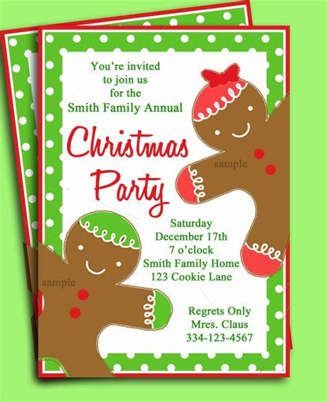 silver bell with red ribbon christmas invitations paperstyle