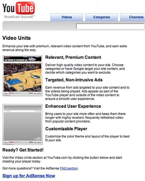 adsense in youtube youtube offers publishers adsense in videos make money