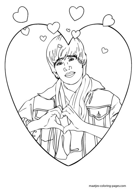 coloring pages to print of justin bieber justin bieber coloring pages