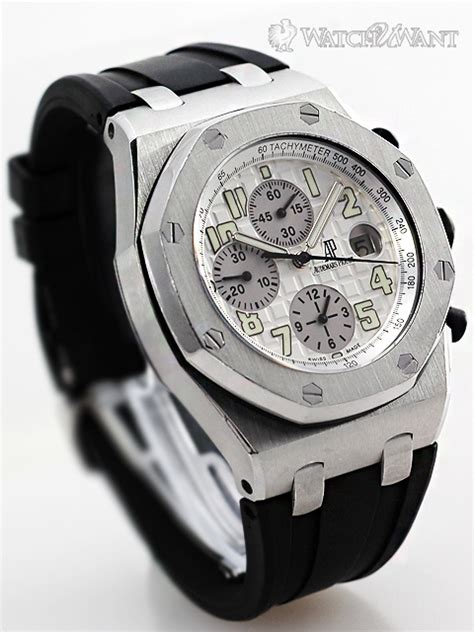 Audemars Piguet Roo Silver White sold listing ap ap royal oak offshore chronograph silver white themes 44mm stainless