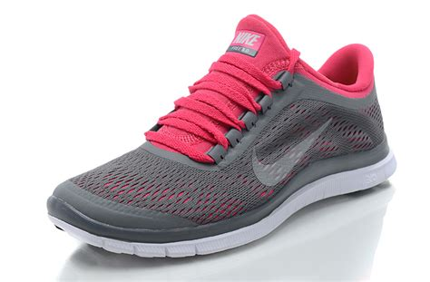 nike free 3 0 v4 womens running shoes pink gray