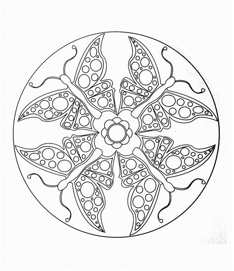butterfly mandala coloring pages printable free mandalas page mandala to color animals butterflies