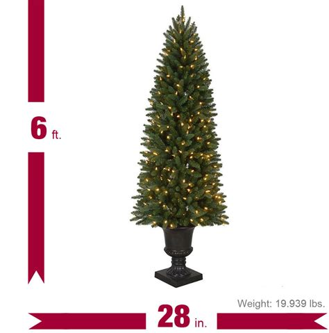 home depot indoor christmas tree lights 6 ft pre lit led new meadow artificial christmas potted