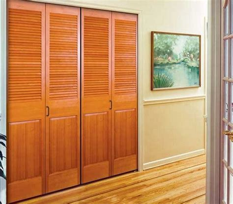 Wooden Closet Doors Solid Wood Louvered Closet Doors Design Interior Home Decor