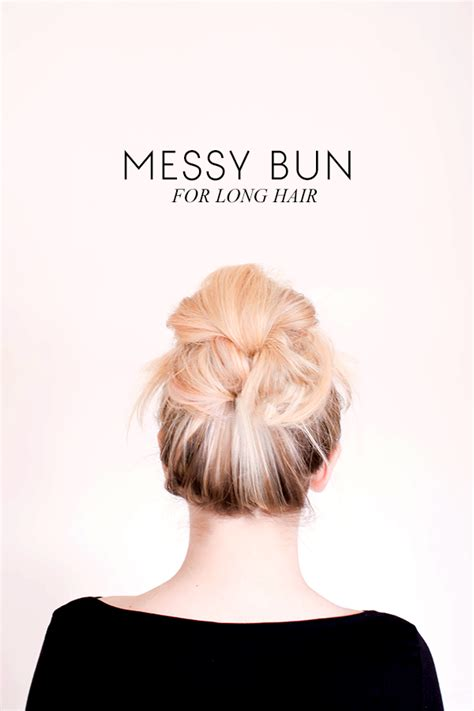 messy bun for long hair sitting in our tree diy messy bun for long hair