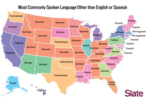 map us language language map what s the most popular language in your state