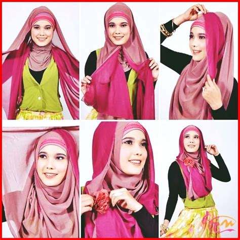 tutorial hijab pashmina simple bahan sifon gambar tutorial hijab update tutorial hijab segi empat