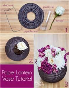 diy paper lantern vase centerpiece smarty had a party blog