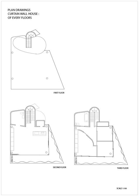 curtain wall house plan shigeru ban curtain wall house tokyo japan 1995 plans pinterest shigeru ban