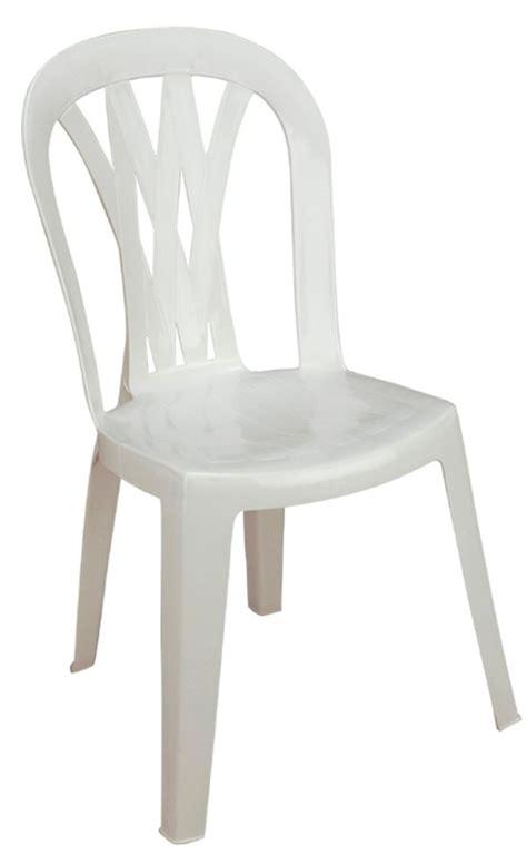 silla de plastico resistente austria blanca  en mercado libre