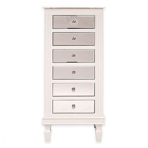 bed bath and beyond jewelry armoire ava jewelry armoire in white bed bath beyond