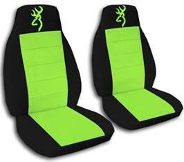 Seat Covers Green Browning Car Seat Covers In Neon Green Black Velour