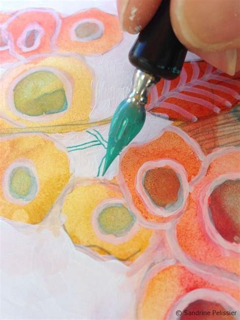 acrylic painting yupo how to paint flowers with mixed media on yupo paper