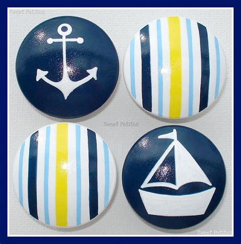 Nautical Dresser Knobs by Painted Knob Dresser Drawer Nautical Stripes Sailboat