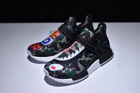 adidas pw hu nmd x bape sneaker shoe 2017 4 4 130 00 popkickz me