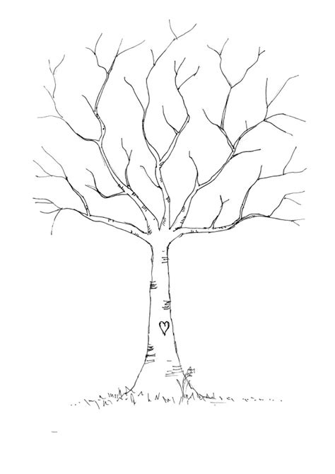 Tree Fingerprint Template leafless tree template images