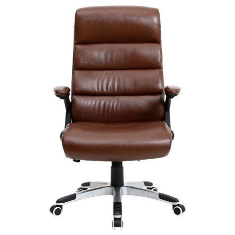 Reclining Office Desk Chair Luxury Reclining Executive Leather Office Desk Chair High Back Swivel Ebay