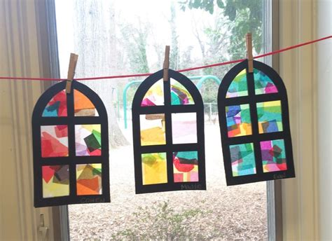 How To Make A Window Out Of Paper - 17 best images about stained glass windows diy on