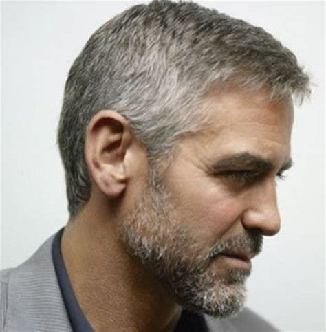 how to style short wiry hair george clooney s hairstyle simple and classy