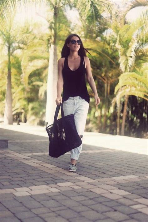 boyfriend and loafers s black tank white ripped boyfriend grey
