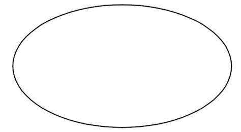 oval shape template printable pin printable oval shape cut out on