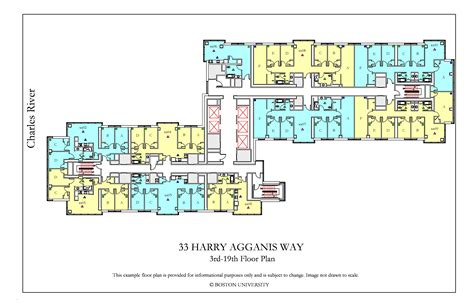bu housing floor plans 33 harry agganis way floor plan 187 housing boston university