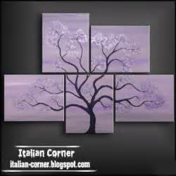 Tree art abstract oil painting on canvas italian wall art paintings