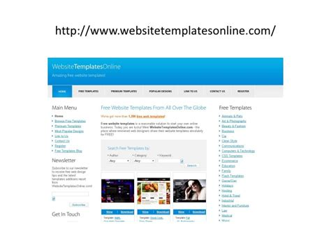 Top Free Sites To Download Free Web Templates Best Website Templates Free