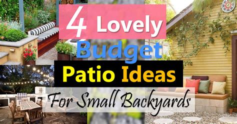 small backyard patio ideas on a budget 4 lovely budget patio ideas for small backyards balcony