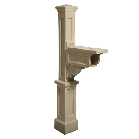 mayne dover plastic mailbox post clay 581000100 the