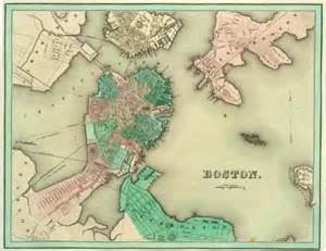 Old Map Of Boston by Historic Maps Of Boston New England And The World