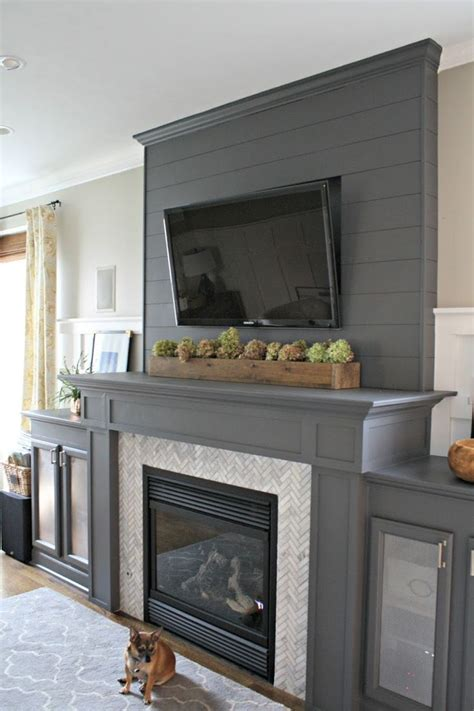install  cement board planked wall grey painted