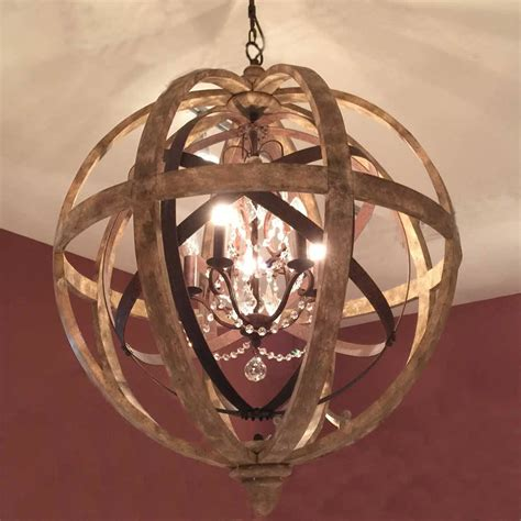 Wooden Orb Chandelier Metal Orb Detail And Crystal Orb Glass Orb Chandelier