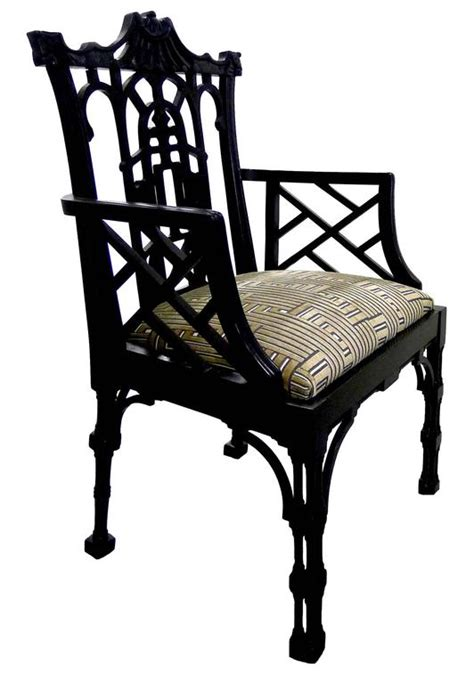 chinese chippendale style arm chair for sale at 1stdibs chinese chippendale style black armchair for sale at 1stdibs