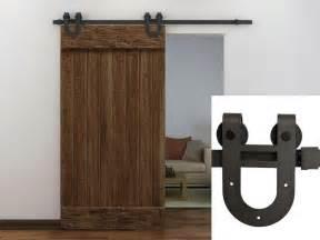 Coffee antique horseshoe barn wood sliding door hardware track set new