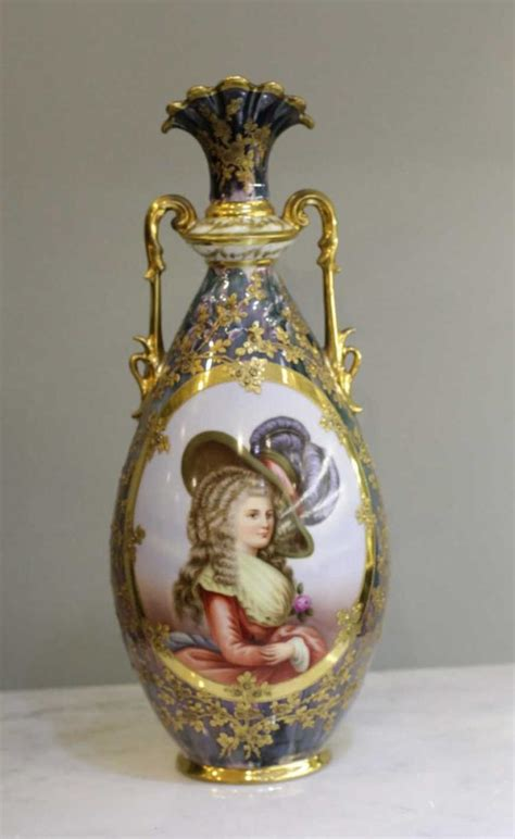 German Vases Antique by German Porcelain Vase 19th C