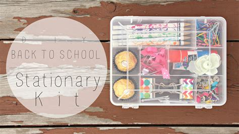 8 Adorable Stationery Kits by Back To School Diy Stationary Kit