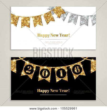 printable happy new year banner 2016 happy new year 2016 banners set with flags garlands