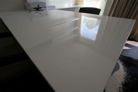 diy mdf desk help i want to give a diy mdf desktop a high gloss white