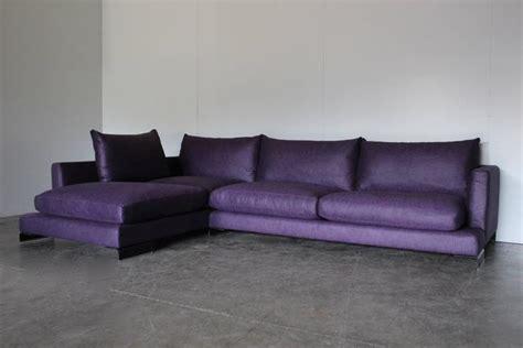 long l shaped sofa flexform quot long island quot l shape sofa in purple and black