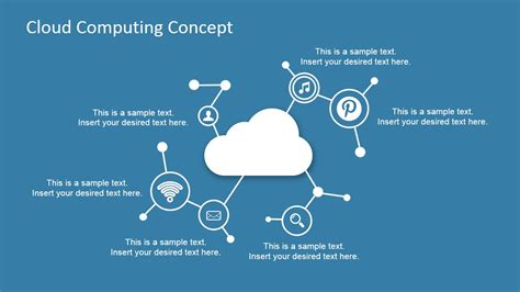 Cloud Computing Concept Design For Powerpoint Slidemodel Cloud Computing Ppt Templates Free