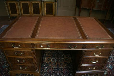 mahogany executive desk leather top executive desk high high end leather top executive mahogany office desk ebay